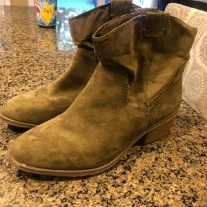 Brand New- army green booties